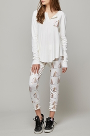 All Things Fabulous Lovers Thermal Pants - Front cropped