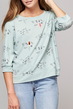 Shoptiques Product: Mint Green Doodle Sweater