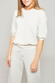 All Things Fabulous Puff Sleeve Sweatshirt - Front cropped