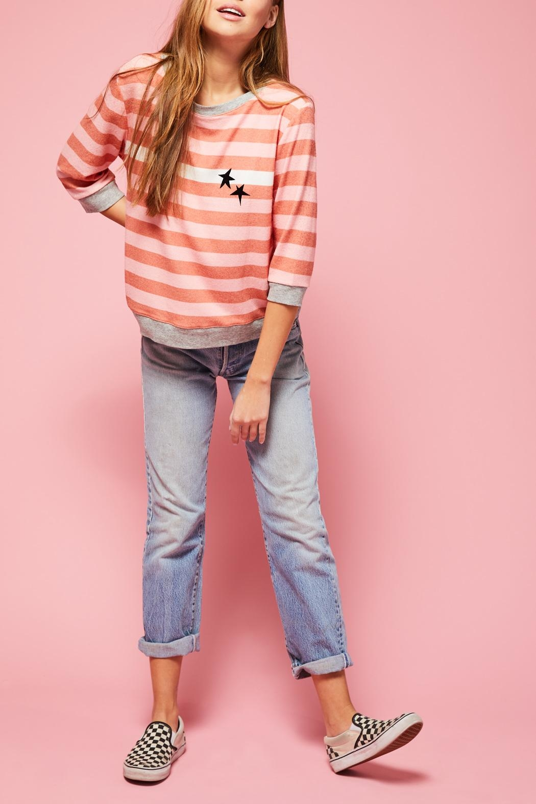 All Things Fabulous White Stripes Cozy - Front Full Image