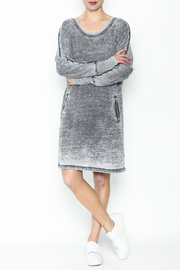 allen allen French Terry Dress - Side cropped
