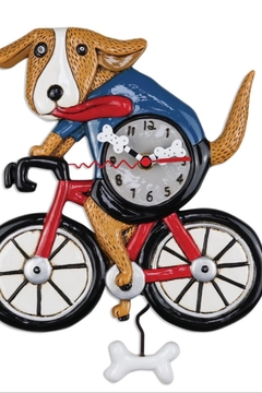 Shoptiques Product: Bicycle Pendulum Clock