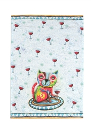 Allen Designs Studio Cat Wine Towel - Product Mini Image