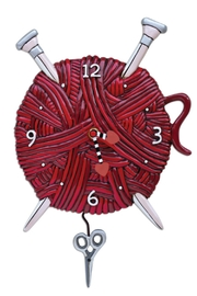 Allen Designs Studio Knitting Love Clock - Front cropped