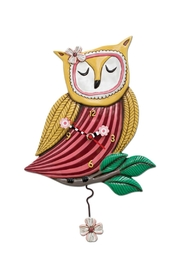 Allen Designs Studio Wise Owl Clock - Front cropped