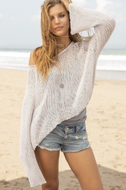 Wooden Ships Allie Cotton Crop-Top - Front full body