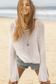 Wooden Ships Allie Cotton Crop-Top - Back cropped