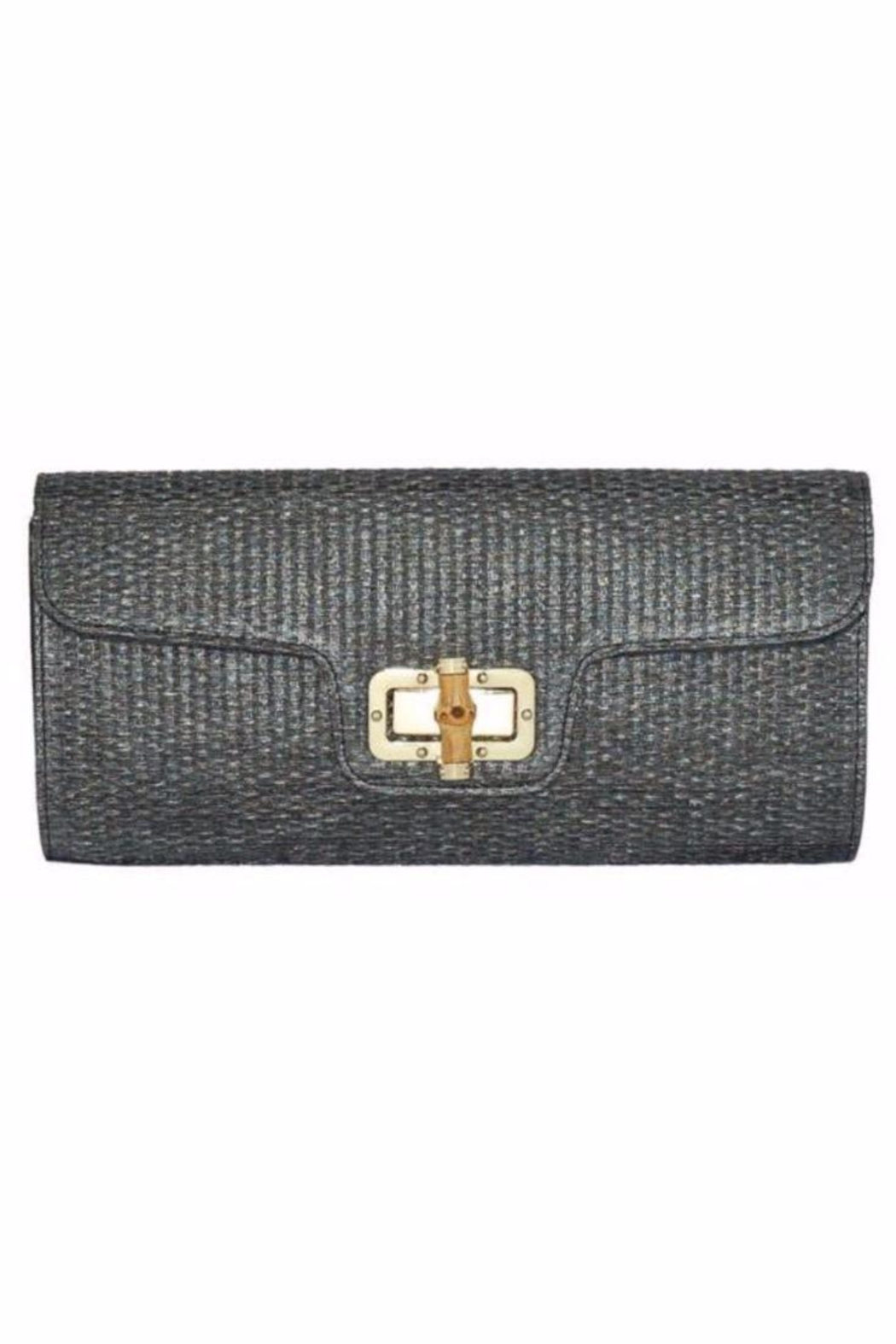 Allie & Chica Black Bamboo Clutch - Main Image