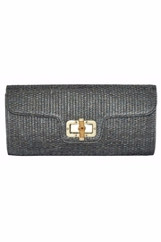 Allie & Chica Black Bamboo Clutch - Product Mini Image