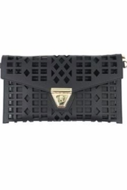 Allie & Chica Black Cutout Clutch - Product Mini Image