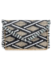 Allie & Chica Black Fringe Clutch - Front cropped