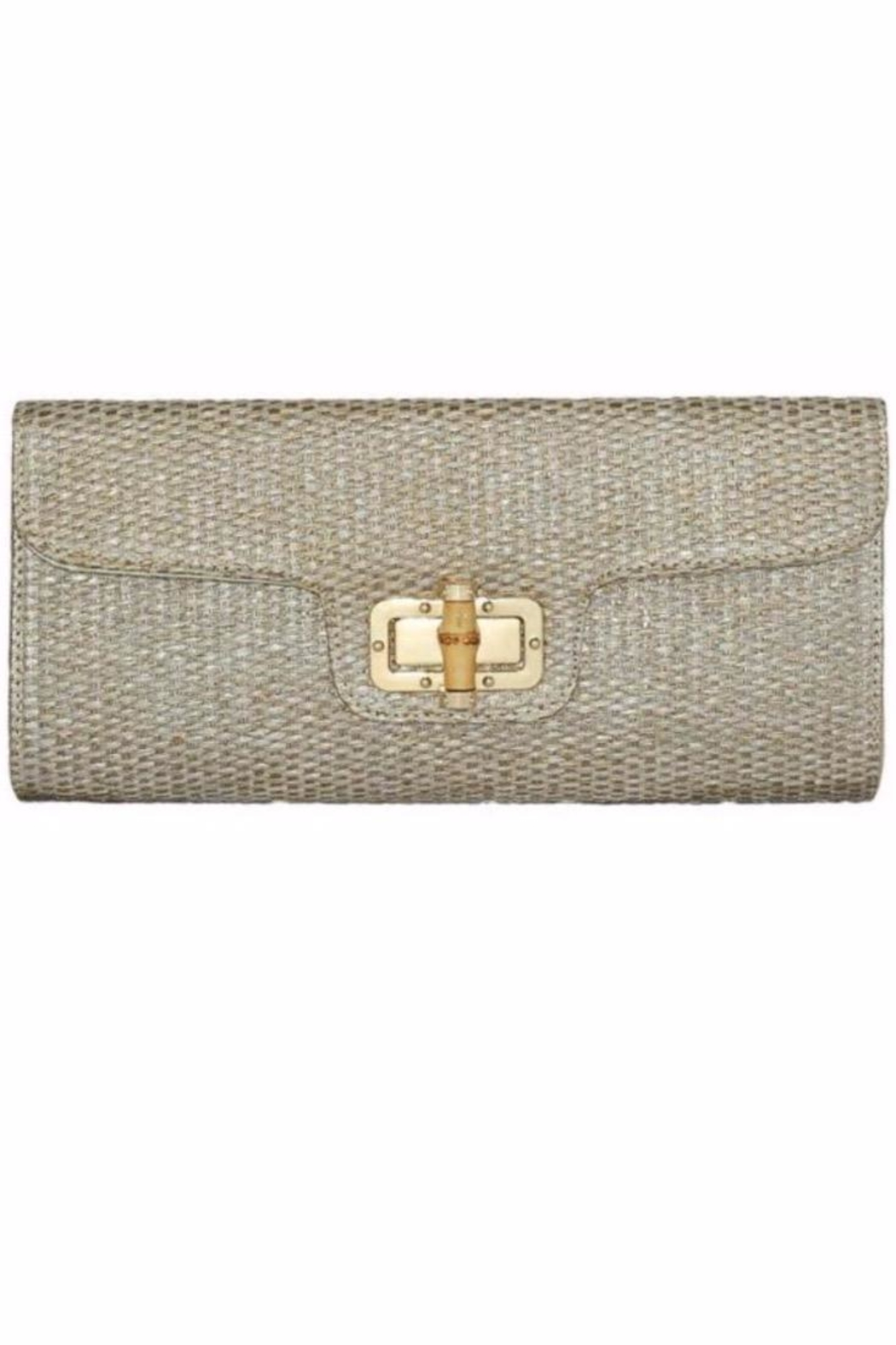 Allie & Chica Gold Bamboo Clutch - Main Image