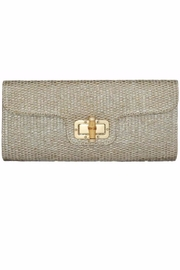 Allie & Chica Gold Bamboo Clutch - Front cropped