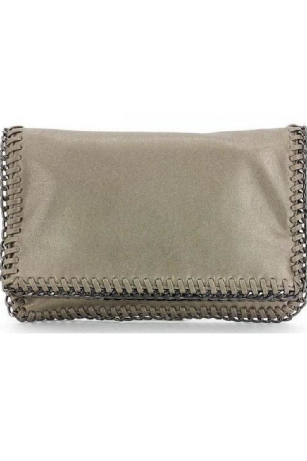 Allie & Chica Gold Chain Clutch - Main Image
