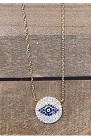 Allie & Chica Gold Evil Eye Disc - Product Mini Image