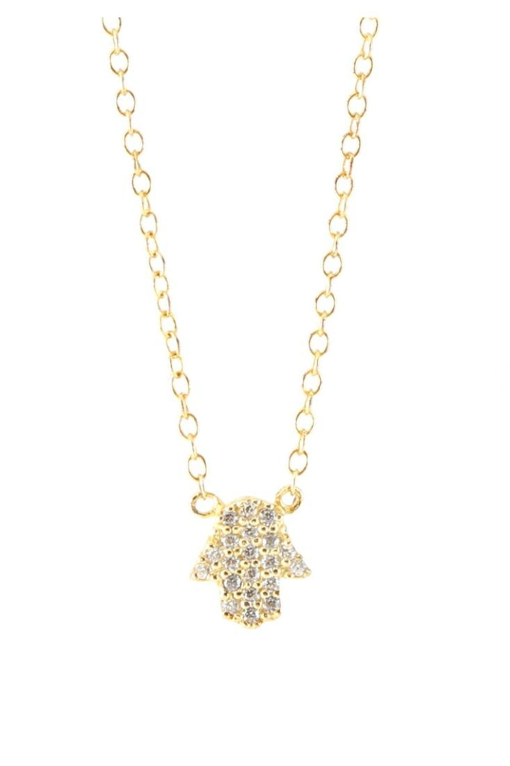 Allie & Chica Gold Hamsa Necklace - Main Image