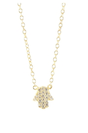 Allie & Chica Gold Hamsa Necklace - Front cropped