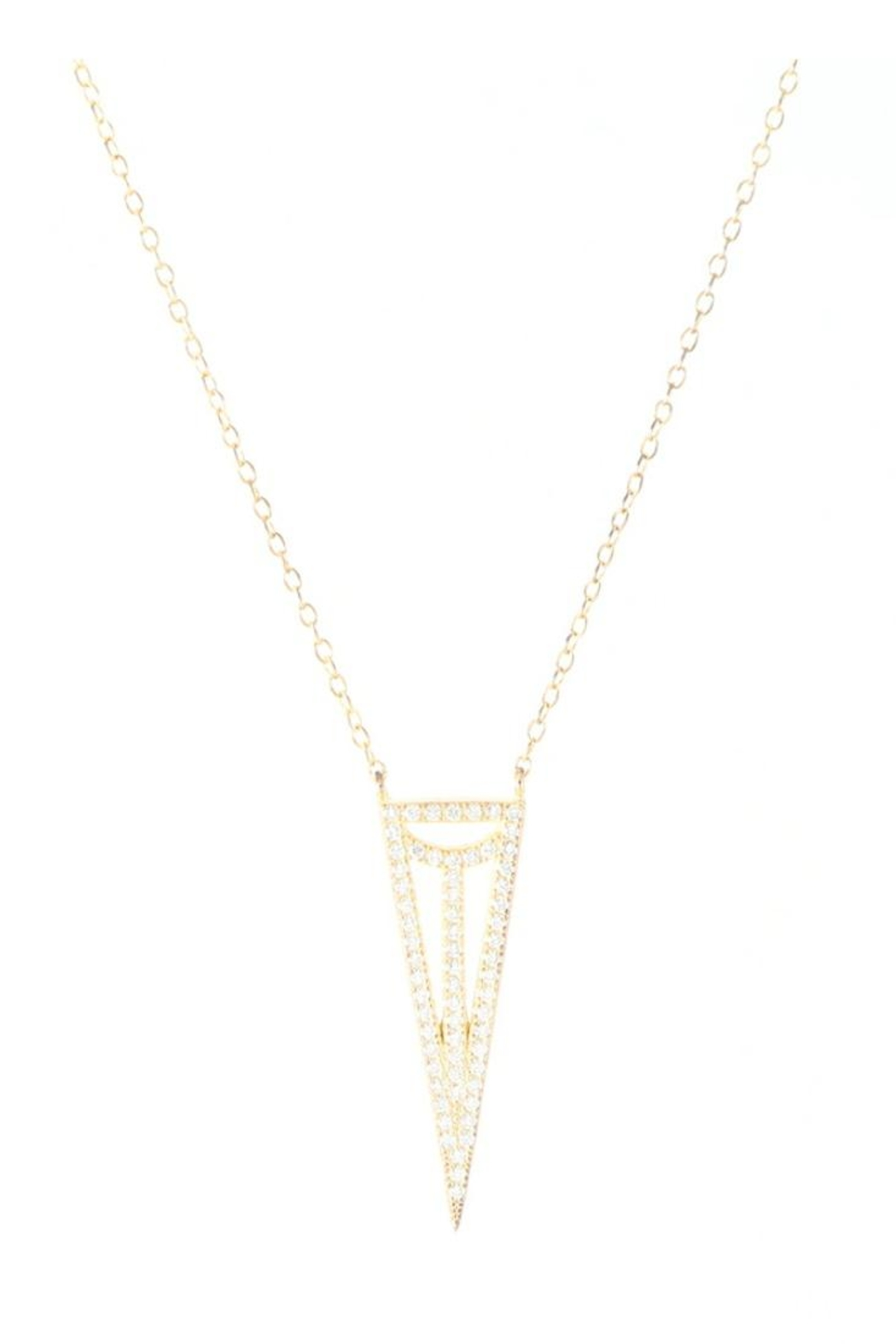 Allie & Chica Gold Triangle Necklace - Main Image