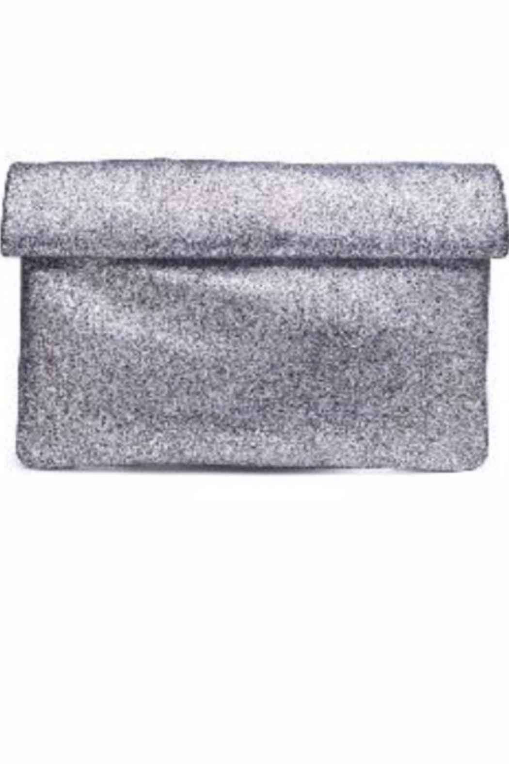 Allie & Chica Pewter Metallic Clutch - Main Image