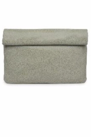 Allie & Chica Sage Metallic Clutch - Front cropped