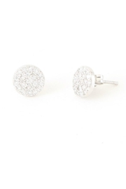 Allie & Chica Silver Disc Earrings - Product Mini Image