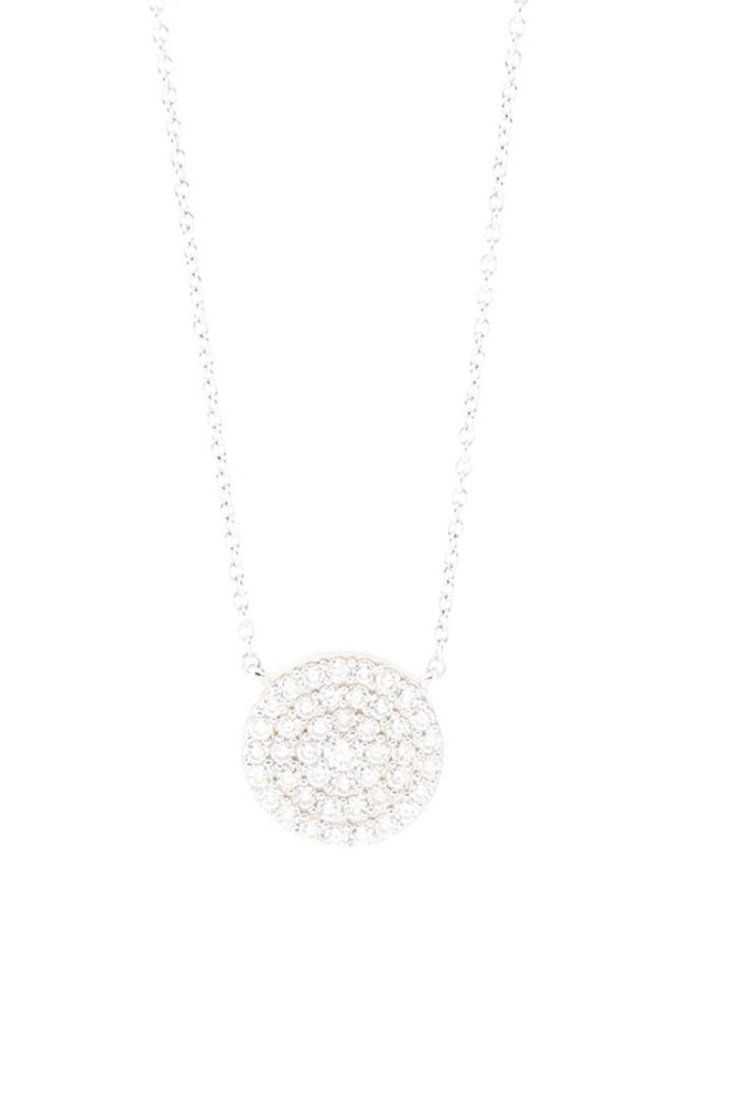 Allie & Chica Silver Disc Neclace - Main Image