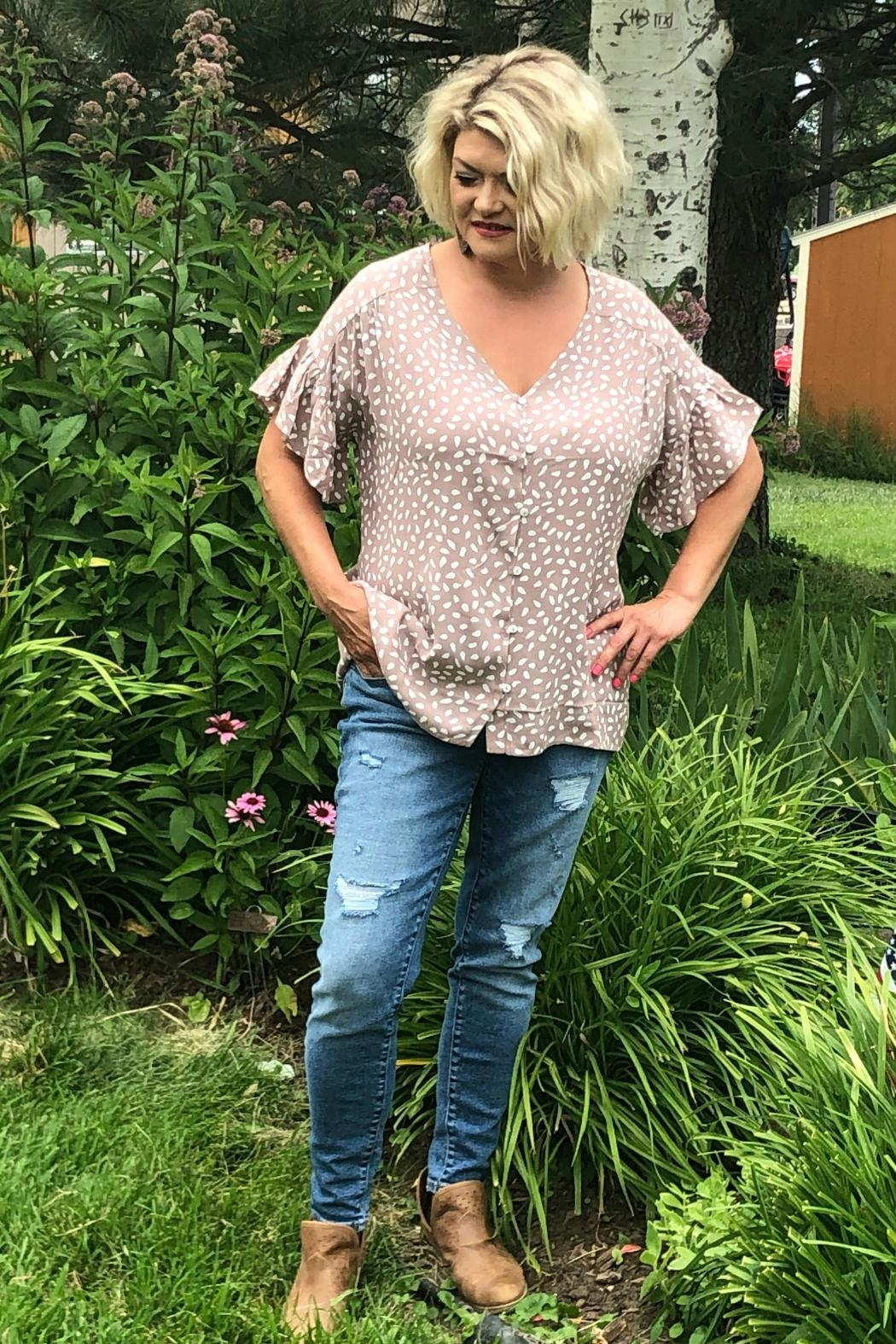 Allie Rose by Ember Button Down Blouse - Main Image
