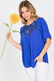 Allie Rose by Ember Embroidered Yolk Blouse - Product Mini Image