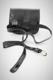 Embellish Alligator Belt Bag - Front full body