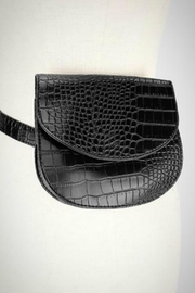 Embellish Alligator Belt Bag - Front cropped