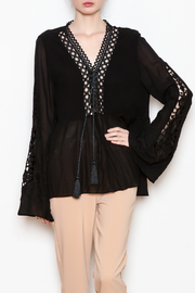 Allison Collection Embroidered Sleeve Top - Product Mini Image