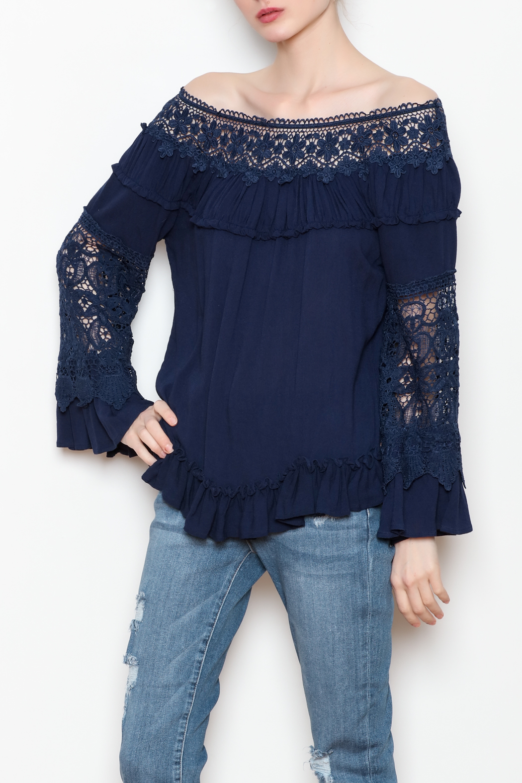 Allison Collection Lace OTS Top - Front Full Image