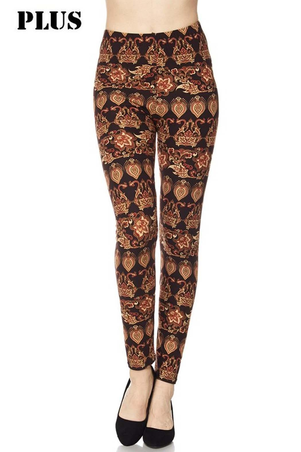 New Mix Allison Print Legging - Front Cropped Image