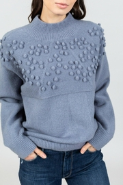 Allison Collection Powder-Blue Pom-Pom Sweater - Product Mini Image