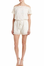 Allison Collection Eyelet Off The Shoulder Romper - Product Mini Image