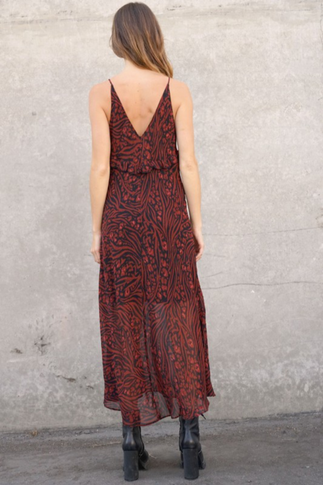 Timing Allister Ruffled Maxi Dress - Side Cropped Image