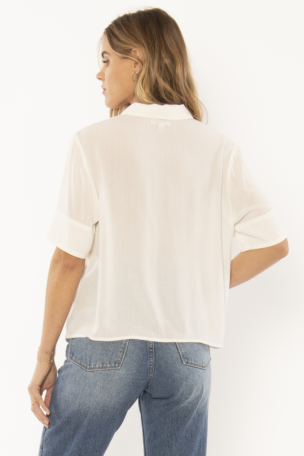 AMUSE SOCIETY Allora Woven Blouse - Front Full Image