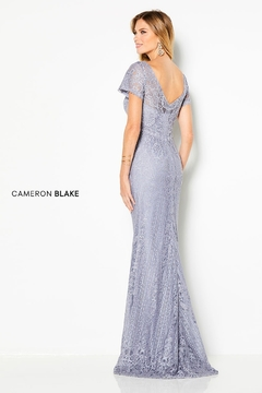 Cameron Blake Allover Lace Sheath Gown - Alternate List Image