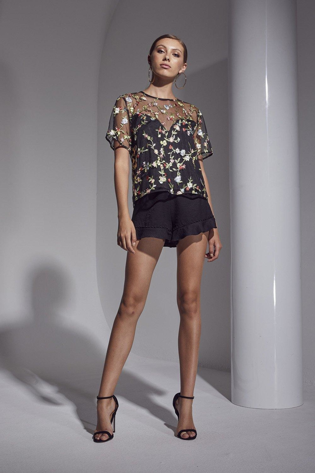 SHILLA THE LABEL Allure Floral Embro - Front Cropped Image