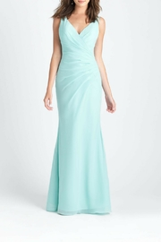 Allure Bridals Lace Back Bridesmaid Dress - Front cropped