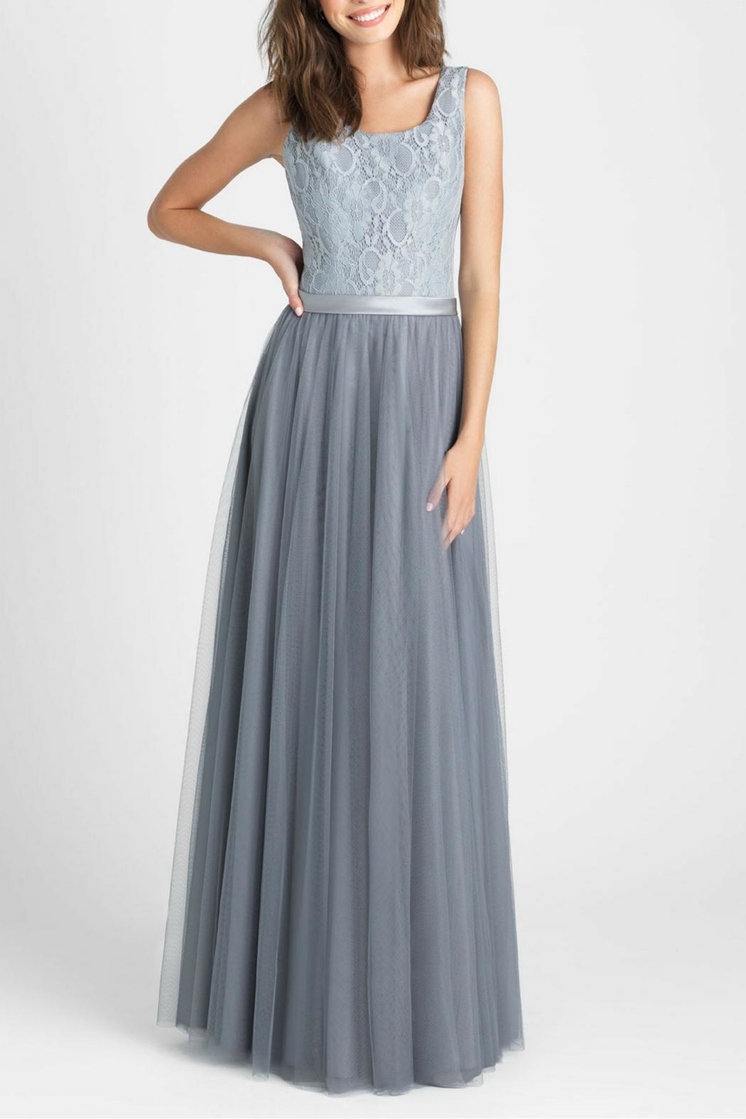 Allure Bridals Lace Tulle Bridesmaid Gown - Main Image