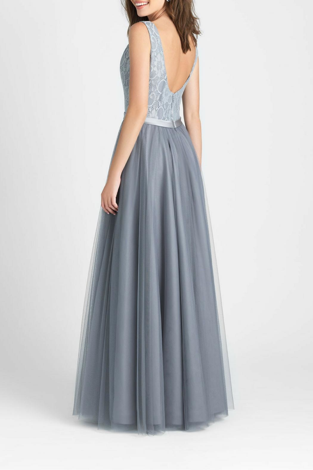 Allure Bridals Lace Tulle Bridesmaid Gown - Front Full Image