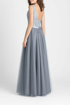 Allure Bridals Lace Tulle Bridesmaid Gown - Alternate List Image