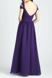 Allure Bridals Cold Shoulder Chiffon Dress - Front full body