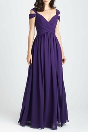 Allure Bridals Cold Shoulder Chiffon Dress - Front cropped