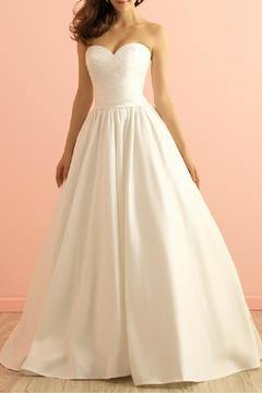 Allure Bridals Simple Taffeta Gown - Product List Image