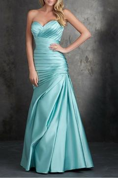 Allure Bridals Strapless Satin Gown - Product List Image