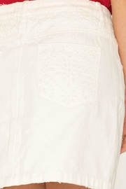 Miss Me Alluring Lace-Contrast Skirt - Other