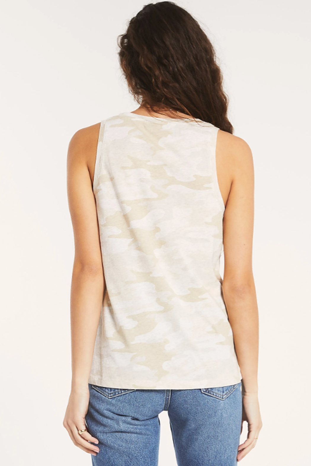 z supply Ally Camo Tank - Side Cropped Image