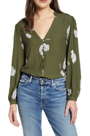 Cupcakes and Cashmere Alma Long Sleeve Floral V-Neck Top - Product Mini Image